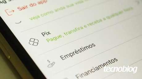 Pix no aplicativo (Imagem: Emerson Alecrim/Tecnoblog)
