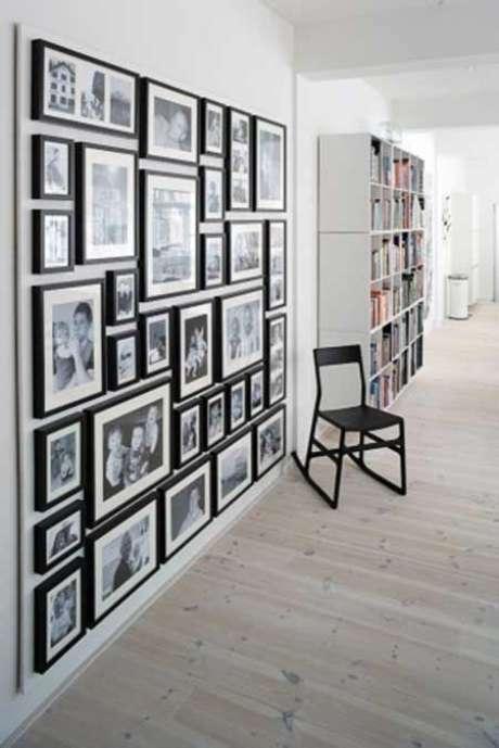 3. Porta retrato na parede de casa – Via: Pinterest