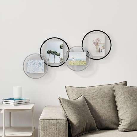 1. Porta retrato para parede moderno – Via: Pinterest