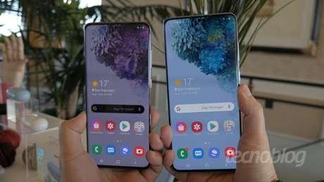 Possível sucessor de Galaxy S20 (foto), Samsung Galaxy S21 é homologado pela 3C (Imagem: Tecnoblog)