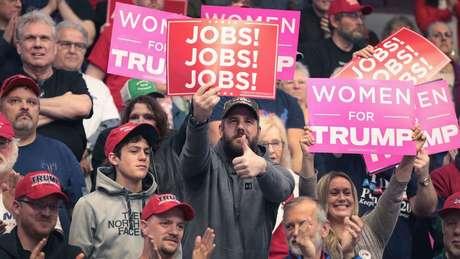 Em Michigan, um estado-chave para a vitória de Trump em 2016, o presidente ainda mantém um forte apoio.