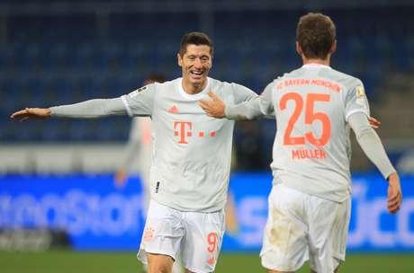 Lewandowski e Muller brilharam pelo Bayern de Munique