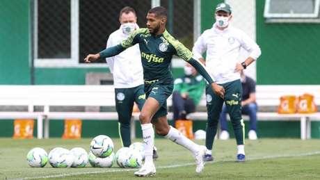 Palmeiras treinou nesta manhã nublada de sábado em São Paulo (Foto: Cesar Greco/Palmeiras)