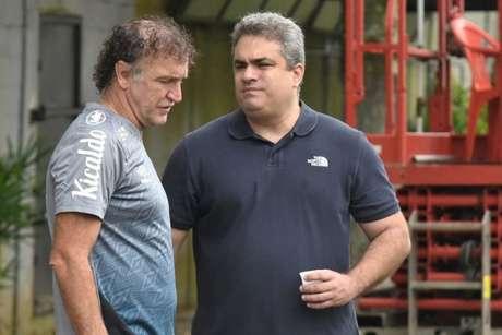 Rollo entrou em contato com Cuca já no seu seu primeiro dia de gestão (Foto: Ivan Storti/Santos FC)