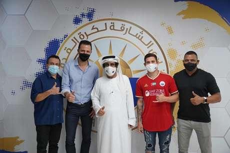 Caio Rosa já integra o elenco do clube árabe-(Divulgação/Al-Sharjah)