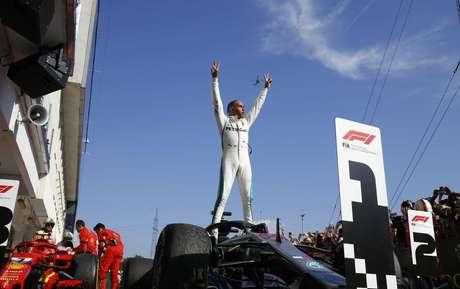 67 – No GP da Hungria de 2018, Lewis Hamilton venceu e seguiu firma na virada da briga pelo título