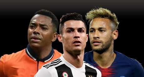 Robinho, Cristiano Ronaldo e Neymar: acusações de crime sexual abalaram carreiras brilhantes
