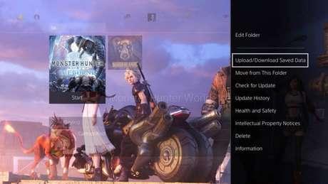 Faça um backup dos saves dos seus jogos (Imagem: Reprodução/PlayStation 4)