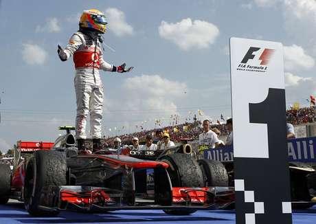 Lewis Hamilton teve grande passagem pela McLaren