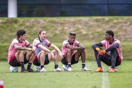 Sem tempo para descanso: Flamengo vai para a quarta partida em nove dias (Foto: Marcelo Cortes/CRF)