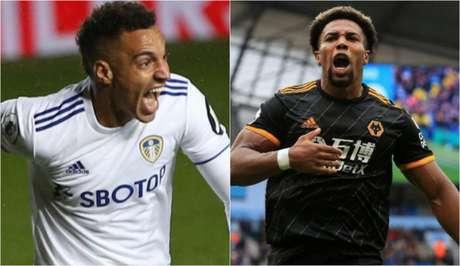 Rodrigo Moreno e Adama Traoré são destaques de Leeds e Wolves (Foto: Divulgação / Site oficial do Leeds; AFP)
