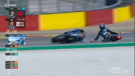 Bezzecchi caiu no fim do GP de Aragão