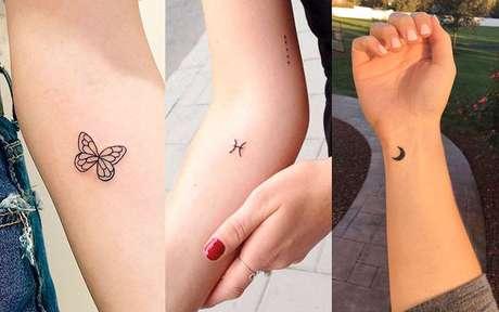 Tatuagens minimalistas: opções de desenhos para você se inspirar