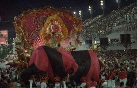 Estádio homenageou o centenário do Fla, em 95: ficou em sétimo (Foto: Reprodução)