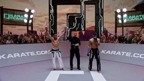 Brasileiro Luiz Rocha saiu vencedor no main event do Karate Combat (Foto: Divulgação)