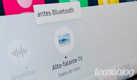 Bluetooth: Smart TV Samsung RU7100