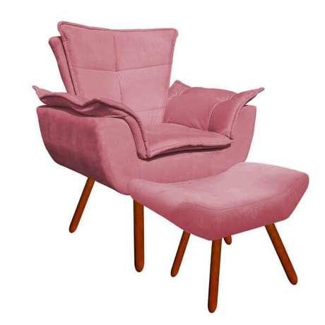 36. Poltrona opala com rosa – Via: Pinterest
