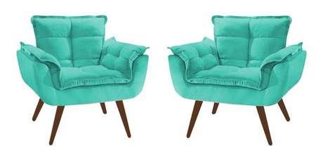 37. Poltrona opala azul turquesa conjunto – Via: Pinterest