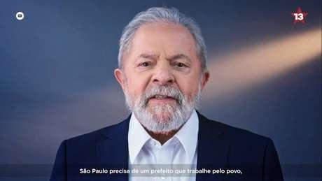 O ex-presidente Lula gravou programas para o candidato do PT em São Paulo, Jilmar Tatto