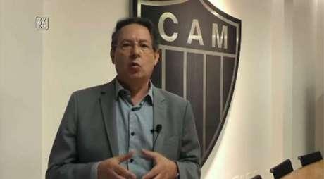 O vice do Galo foi incisivo contra o chefe da arbitragem da CBF, Leonardo Gaciba-(Reprodução)
