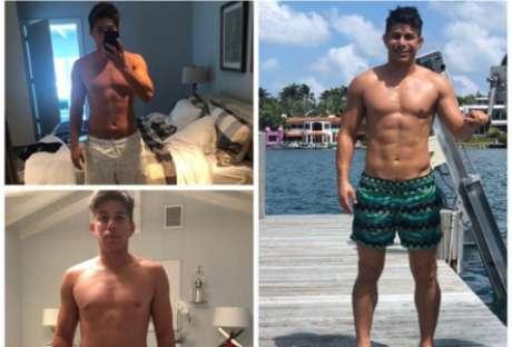 Mudança gradual: veja como ele transformou seu corpo (Foto: Arquivo Pessoal)