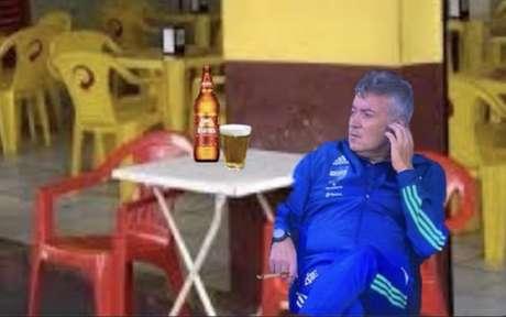 Treinador do Flamengo foi personagem de memes na web (Foto: Reprodução)