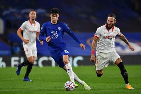 Chelsea e Sevilla ficaram no zero a zero - Glyn KIRK/AFP