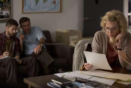 """Cena do filme """"Conspiração e poder"""" (2015), com Cate Blanchett e Robert Redford."""
