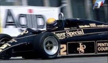 Moreno com o problemático Lotus 91: sem treinos para o desafio do GP da Holanda de 1982, em Zandvoort.