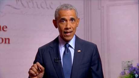 Ex-presidente dos EUA Barack Obama discursa na Convenção Nacional do Partido Democrata 19/08/2020 Conveção Nacional Democrata/Pool via REUTERS