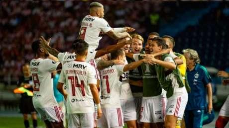 Na ida contra o Junior, ainda com Jorge Jesus, Flamengo venceu por 2 a 1, fora de casa (Foto: Alexandre Vidal / Flamengo)