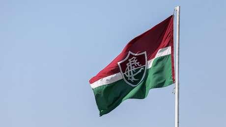 Bandeira do Fluminense no Centro de Treinamento Carlos Castilho (Foto: Lucas Merçon/Fluminense FC)
