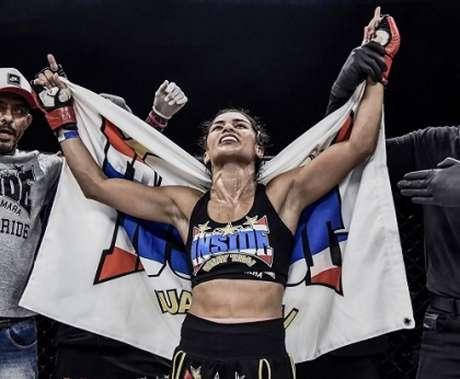 Pamela Mara vai disputar cinturão peso-palha contra Andreia Serafim (Foto: Edu Rocha/SFT)