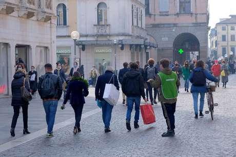 Movimentação em Pádua, no norte da Itália