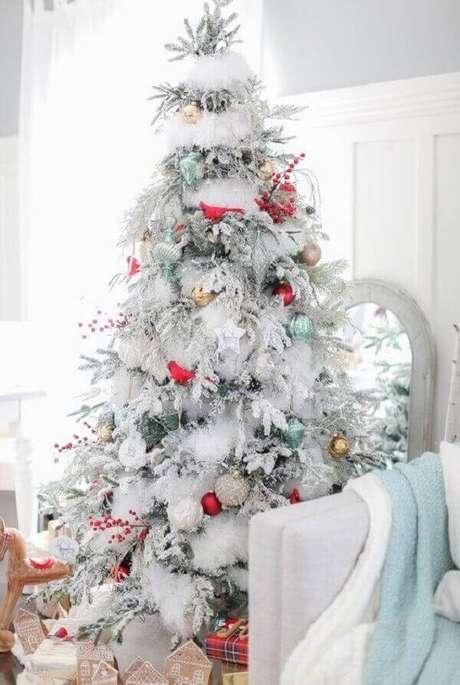 12- O pinheiro de natal branco representa a neve dos países europeus. Fonte: Pinterest