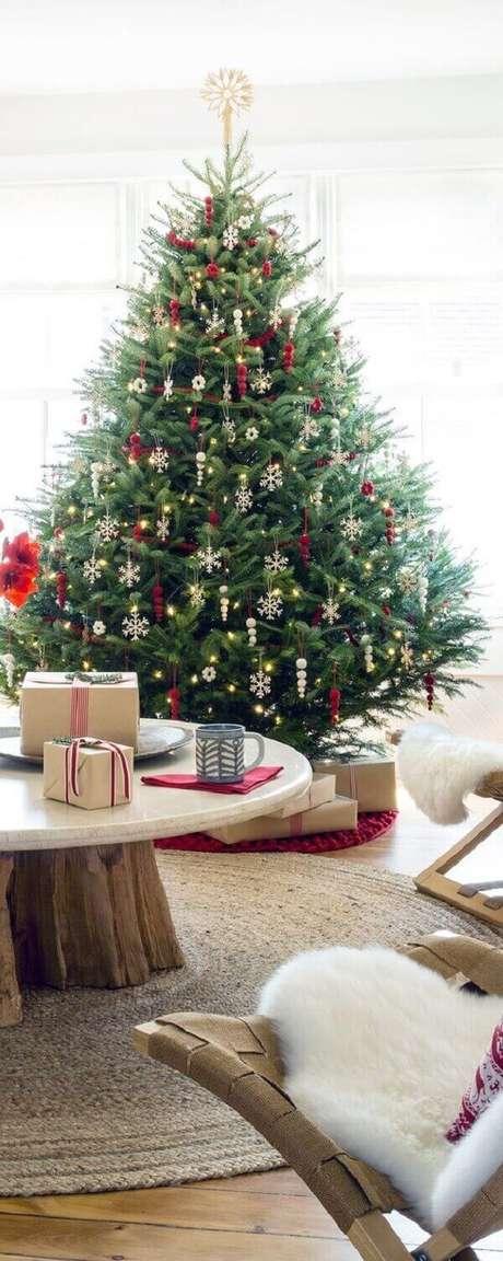 39- O pinheiro de natal é um tradicional enfeite das festas de fim de ano. Fonte: Buyer select