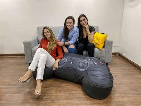As três empreendedoras que fundaram a RadarFit: Jade Utsch (à esq.), Tatiany Ribeiro (ao centro) e Jennifer de Faria (à dir.)