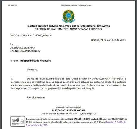 Documento determina recolhimento das brigadas