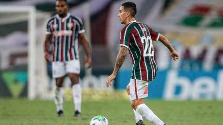 Dodi em partida pelo Fluminense (Foto: LUCAS MERÇON / FLUMINENSE F.C)