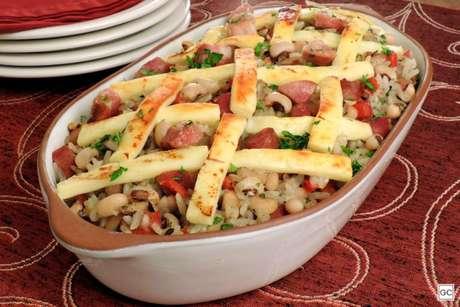 Guia da Cozinha - Receita de baião de dois rápido para o jantar