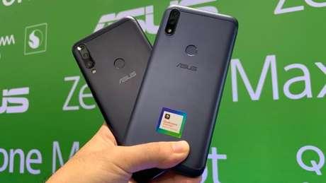 Asus Zenfone Max Shot e Max Plus M2 (Imagem: Paulo Higa/Tecnoblog)