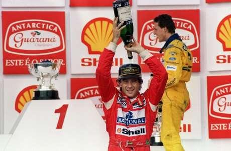 Ayrton Senna é embaixador da TAG Heuer e foi homenageado em 2020 (Foto: JULIO PEREIRA / AFP)