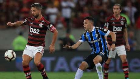 Em três meses, Diego recuperou-se de grave lesão e pôde participar do 5 a 0 histórico (Alexandre Vidal / Flamengo)