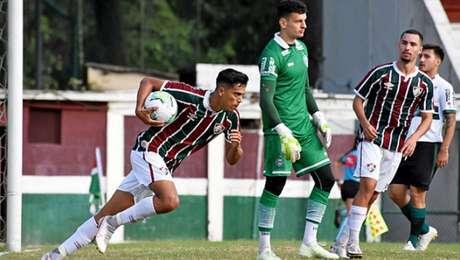 Matheus Pato comemora gol marcado no final do jogo (Foto: Mailson Santana/Fluminense FC)