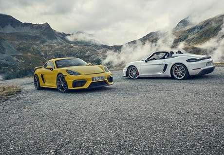 Novos Porsche 718 Cayman GT4 e 718 Spyder: encomendas abertas.