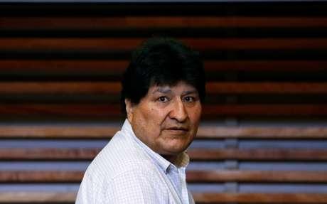 Evo Morales durante entrevista coletiva em Buenos Aires 22/10/2020 REUTERS/Agustin Marcarian