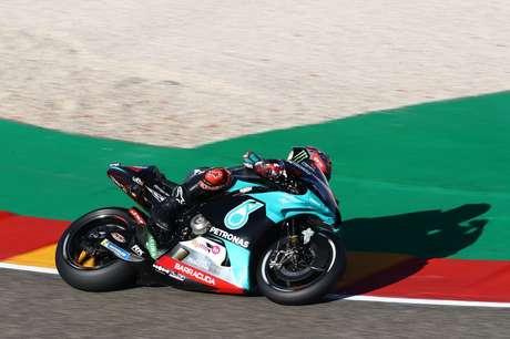 Fabio Quartararo foi pole semana passada, mas vai sair apenas em sexto amanhã