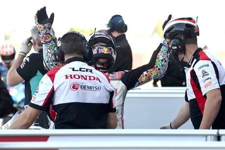 Takaaki Nakagami vai estrear na pole da MotoGP