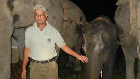 A região onde o médico mora abriga 5 mil dos 27 mil elefantes estimados na Índia