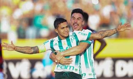 Palmeiras venceu o Atlético-GO por 3 a 1, pelo Brasileirão de 2017 (Foto: Cesar Greco/Palmeiras)